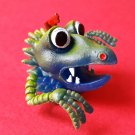 Monster finger puppet soft rubber retro Gigantor jiggler weird creature NEW! b