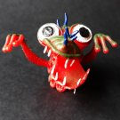 Monster finger puppet soft rubber retro Gigantor jiggler weird creature NEW! c