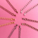 Extension Chains for making necklaces, chokers and bracelets 3 inch (75-80mm)