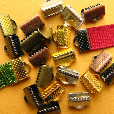 144 pcs. Ribbon Clamps Ribbon Crimp Ends Shipped from USA -- Wholesale