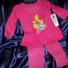 DISNEY PRINCESSES 2pc Legging Set  Size 18mos NWT