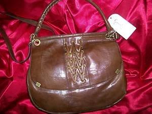 Jessica Simpson Walnut Brown Smash Hit   Handbag