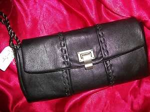 Jessica Simpson Black  Maggie Clutch Handbag