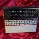 TOMMY HILFIGER BOY PRINTED MULTI FULL SHEET SET 200 TC 100% COMBED COTTON  NIP