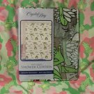 "CRYSTALBAY 100% VINYL SHOWER CURTAIN HAPPY JUMPIN  FROGS 70"" X 72"" N.I.P."