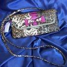 Jessica Simpson Leopard Cheetah Print w/ Pink Accents Clutch Handbag JS7770  NWT
