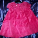 Laura Ashley London 24mos Rose Velvet lined Dress w/ matching satin bloomers NWT