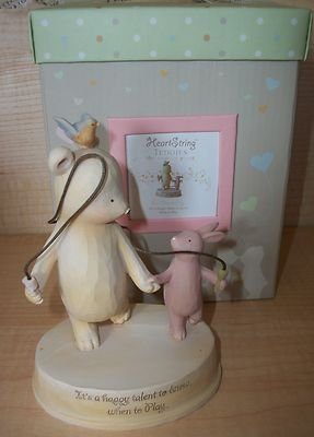 HEART STRING TEDDIES IT'S TIME TO PLAY FIGURINE SEAGULL STUDIOS NIB