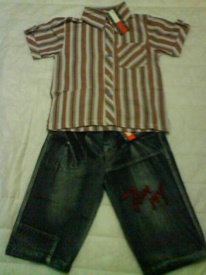 Set tommy short sleeve and jeans (KS005PP)