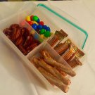 UZO1™ Airtight & Vacuum Sealed and Lock Four Compartment Food Storage Container