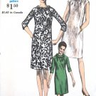 Vintage 1960's MOD Dress Sewing Pattern Slim Rolled Collar or Neck Tied  Vogue 6815 Bust 32 UNCUT