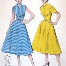 Vintage 1950s Dress Sewing Pattern Summer Flared Rockabilly Butterick 6501 Bust 30 Size 12