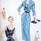 Vintage 1950s Cocktail Wiggle Dress & Bolero Sewing Pattern Vogue Special Design  S-4420 Bust 30