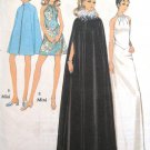 Vintage 1960s Cape and Halter Dress Sewing Pattern Long or Mini STYLE 2643 Size 16 Bust 38