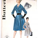 Vintage 1960s Coat Dress Sewing Pattern Double Breasted Butterick 2455 Size 10 Bust 31