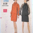 Vintage 1960s MOD Dress Sewing Pattern Vogue 7306 Bust 32 1/2 Size 10 UNCUT