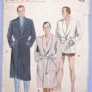 Vintage 1950s Mens Robe Sewing Pattern for Lounging or Beach Size Medium 38-40 Butterick 5770