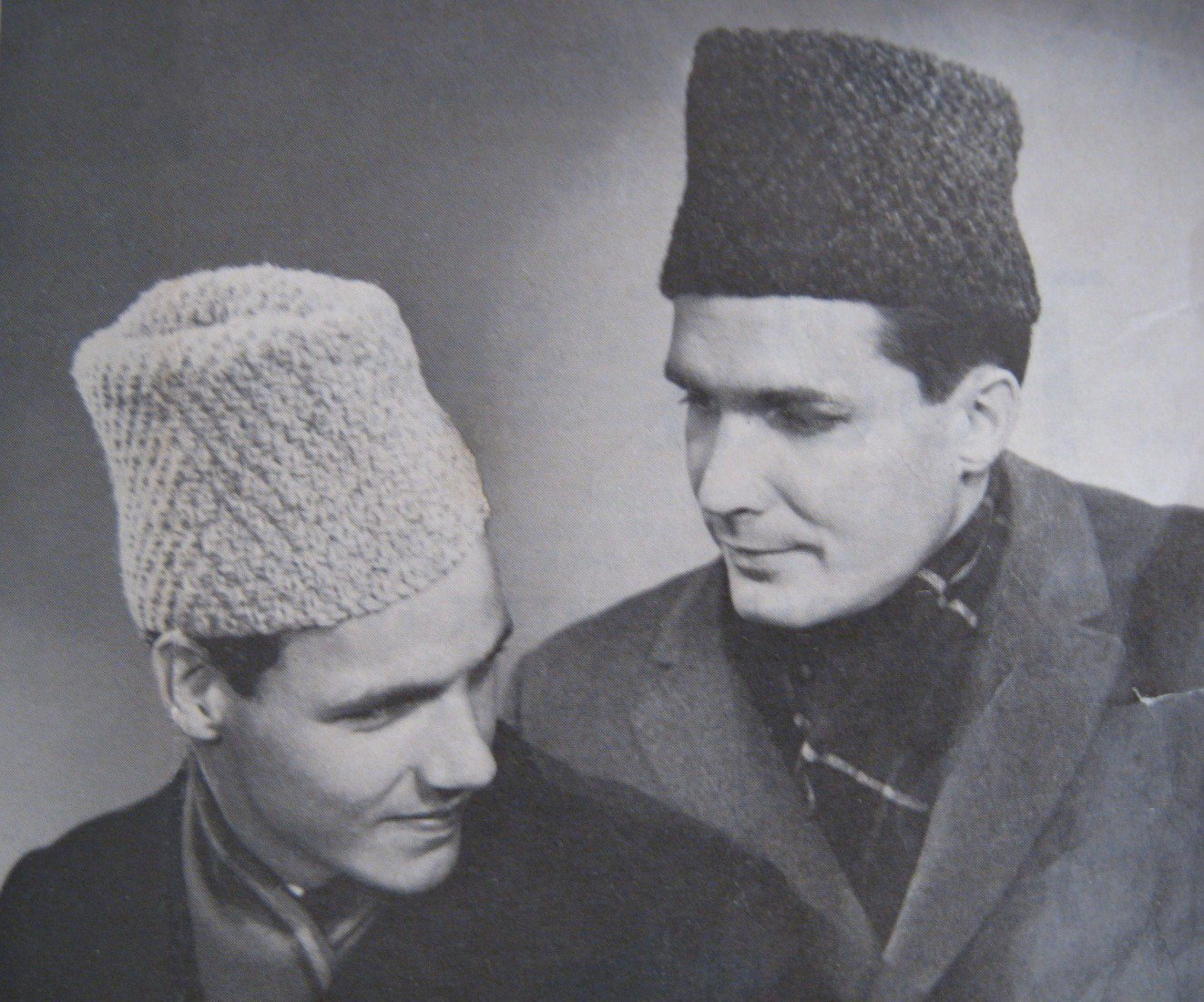 PDF Mens Knit Hat Winter Russian Cossack Wedge Shaped  VTG 1950s Easy to Make