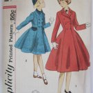 VTG 1950s Girls Princess Coat Sewing Pattern Double Breasted Size 7 Breast 25 Simplicity S-109