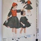 VTG 1950s RARE Helen Lee Sewing Pattern Girls Dress Jacket Dutch Hat Petticoat McCalls 4203 Size 6