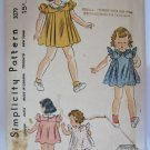 VTG 1940s Childs Dress & Panties Sewing Pattern Size 1 Breast 20 Simplicity 3079