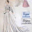 VTG VOGUE COUTURIER DESIGN 1950s Bridal Wedding Evening Gown Sewing Pattern 545 Bust 36