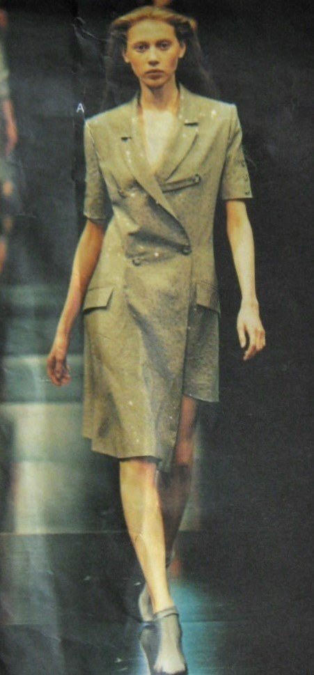 SOLD Vogue 2628 Rare Alexander McQueen for Givenchy Sewing Pattern Coatdress Sizes 12 14 16 UNCUT FF