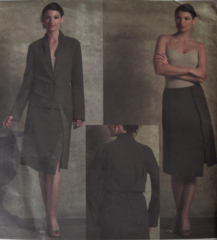 Vogue V2952 Issey Miyake Sewing Pattern 2000s Misses Jacket Skirt Sizes 6 8 10 UNCUT