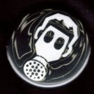 Gas Mask #2  pinback button badge 1.25""