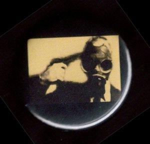 "Gas Mask #5  pinback button badge 1.25"""