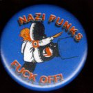 NAZI PUNKS FUCK OFF! #2 pinback button badge 1.25""