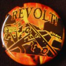 1 REVOLT! pinback badge button 1.25""
