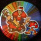 1 HIPPIE WITH A SHROOM pinback button badge 1.25""
