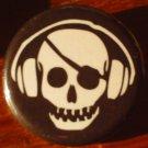 "1 MUSIC PIRATE #2 pinback button badege 1.25"""