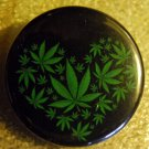 MARIJUANA LEAF HEART pinback button badge 1.25""