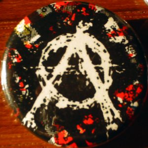 ANARCHO-FLANNEL pinback button badge 1.25""