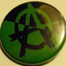 Green Anarchy pinback button badge 1.25""