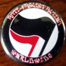 "ANTI-FASCIST ACTION WORLDWIDE pinback button badge 1.25"""