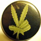 MARIJUANA LEAF PEACE pinback button badge 1.25""