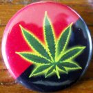 Anarcho-Syndicalist Flag with Pot Leaf pinback button badge 1.25""