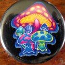 "MYSTICAL MUSHROOMS pinback button badge 1.25"""