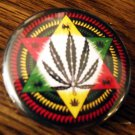 RASTA LEAF STAR pinback button badge 1.25""