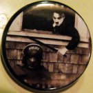 CHARLIE CHAPLIN BOPS A COP pinback button badge 1.25""