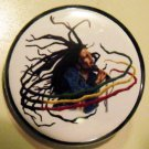 BOB MARLEY - RASTA DREADS pinback button badge 1.25""