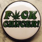 FUCK CANCER!  pinback button badge 1.25""