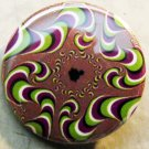 PSYCHEDELIC SWIRL pinback button badge 1.25""