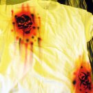 One of a kind XL air-brushed skull and biohazard T-shirt #2 - prewashed and new