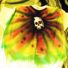 One of a kind XL air-brushed skull grenade #2 T-shirt - prewashed and new