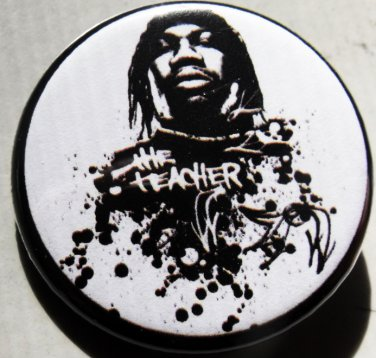 "KRS-ONE ""THE TEACHER"" pinback button badge 1.25"