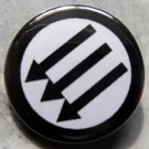"""ANTIFASCIST CIRCLE pinback button badge 1.25"""""""